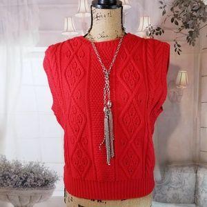 Pendelton Vintage Red Sweater Vest.  Size S